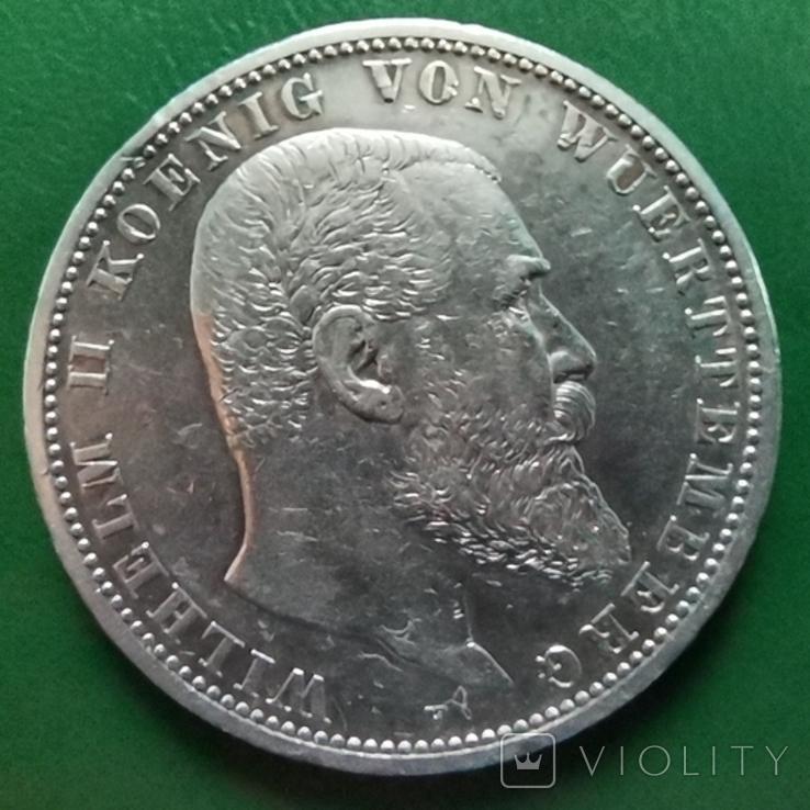 5 марок Вюртемберга 1902р., фото №2