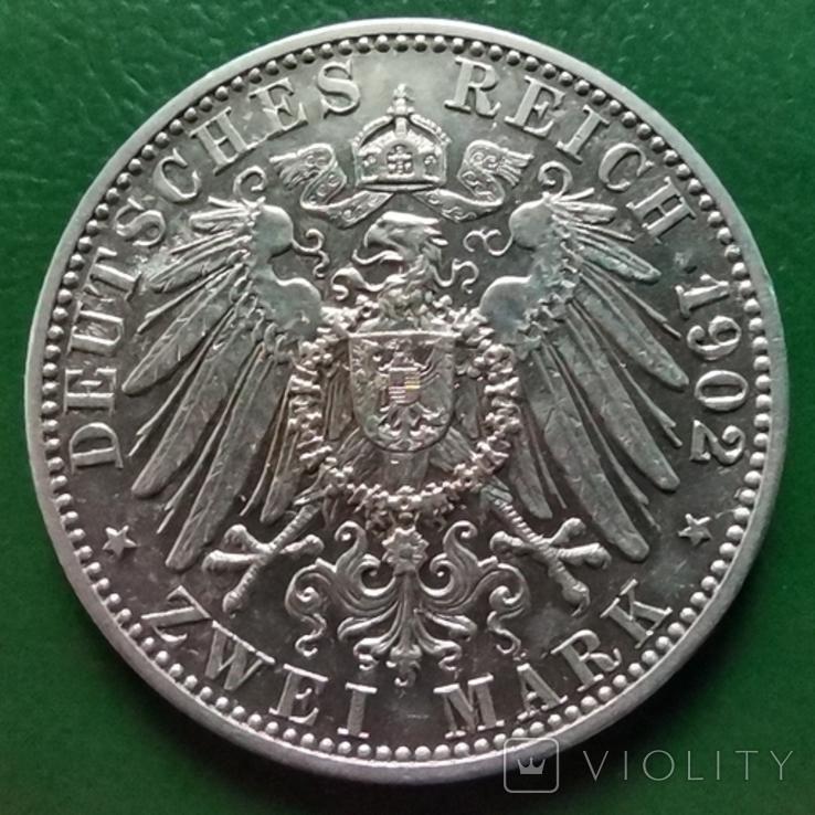 2 марки Баден 1902 г., фото №3