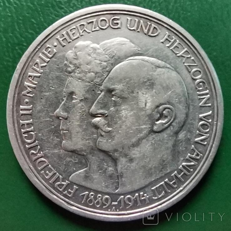 3 марки Анхальд 1914 г., фото №2