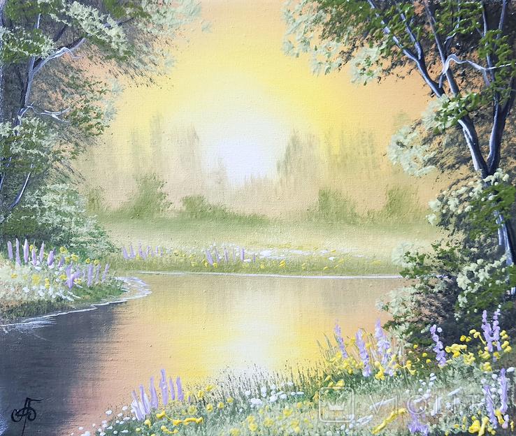 Картина, Поэма летнего вечера, 25х30 см. Живопись на холсте, фото №2