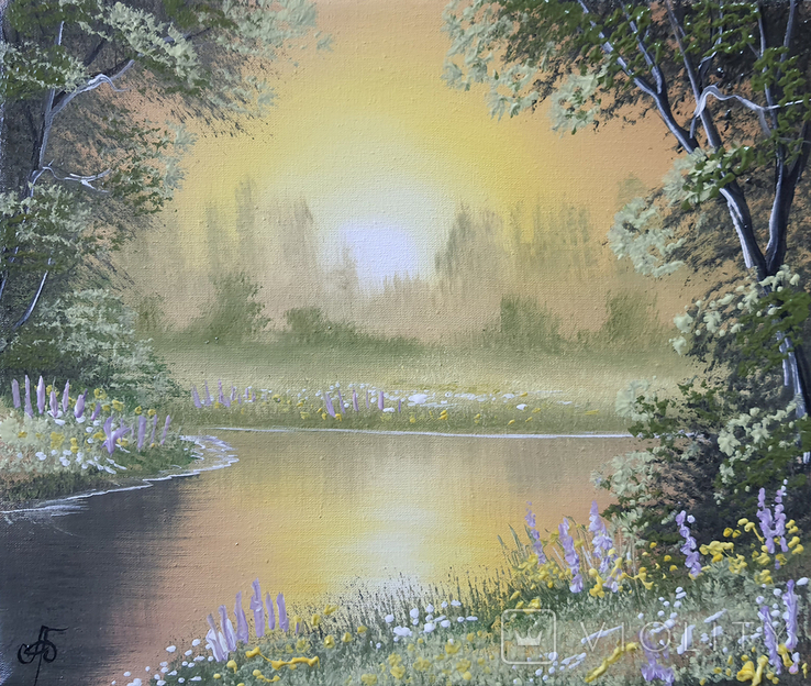Картина, Поэма летнего вечера, 25х30 см. Живопись на холсте, фото №3