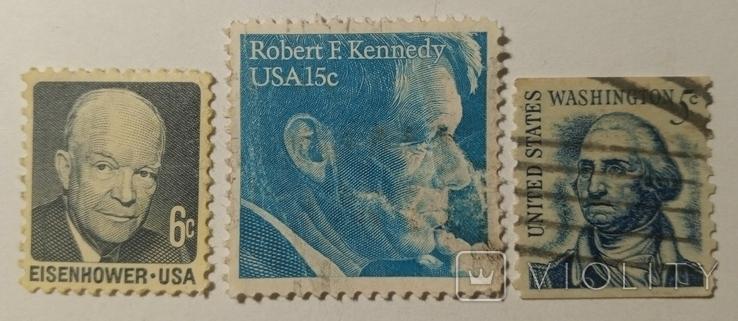 Марки США 1960-х (3шт), фото №2