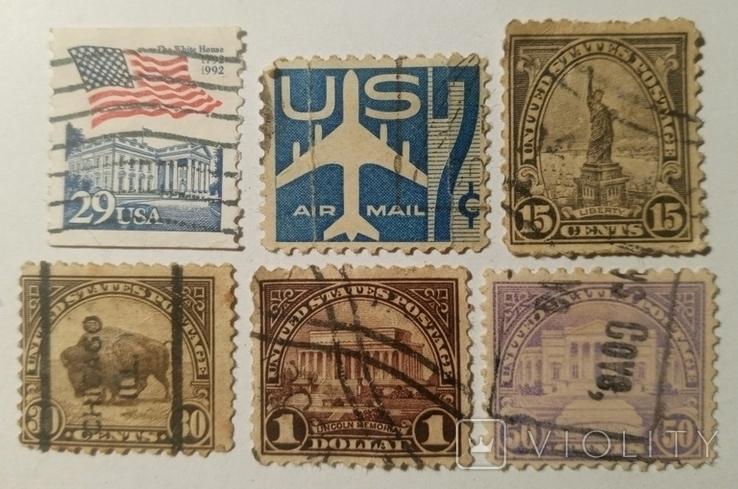 Марки США (6шт), фото №2