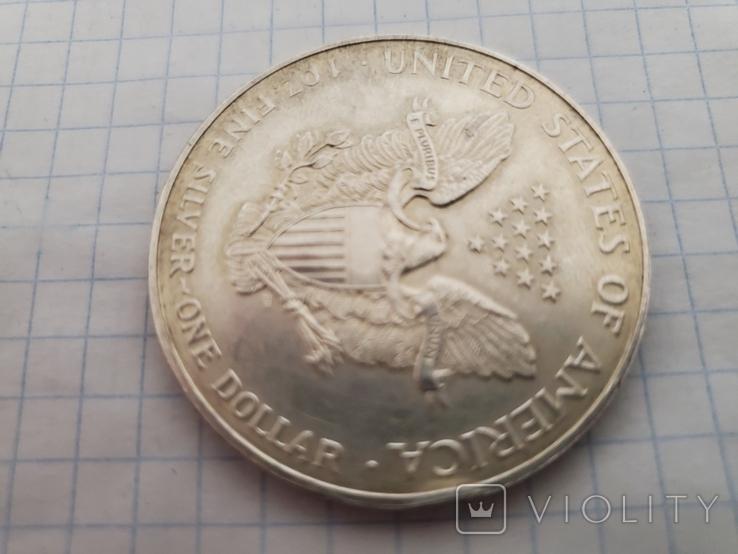 Унция,серебро,США(31,1 г.),1998 год., фото №9