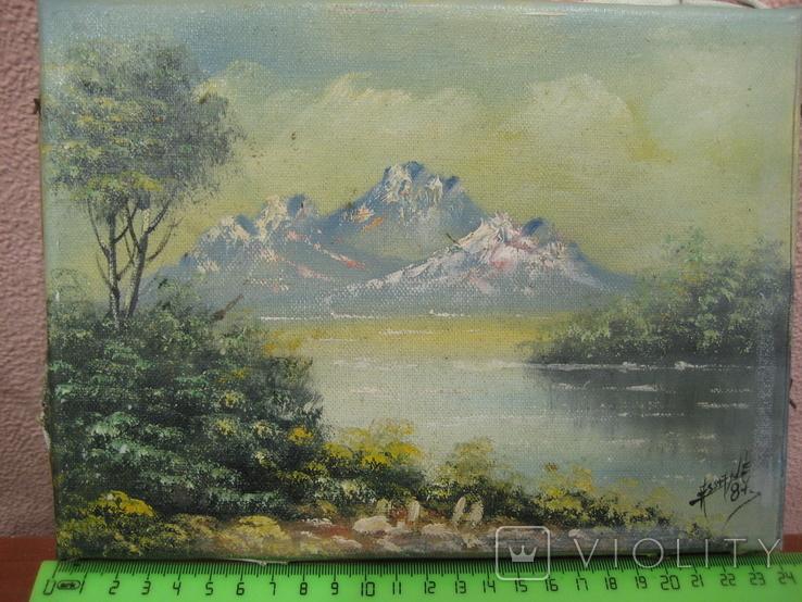 "Картина "" Горная река "" . Assane 87 ., фото №2"