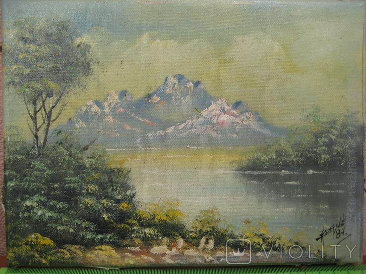 "Картина "" Горная река "" . Assane 87 ., фото №3"