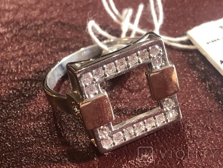 Кольцо . Серебро и золото. Новое, фото №3