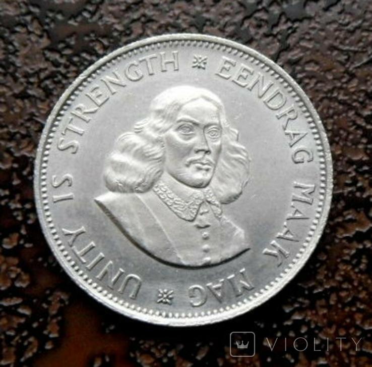 20 центов ЮАР 1964 состояние серебро, фото №2