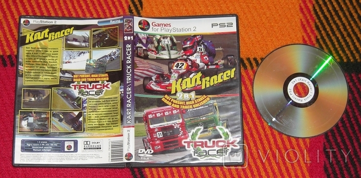 DVD PS2 Kart Racer. Truck Racer. 2в1, фото №2