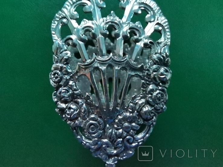 Щипці Швеція срібло 40 грам, фото №3