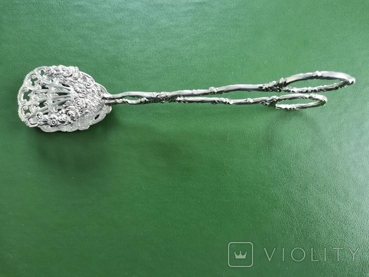 Щипці Швеція срібло 40 грам, фото №4