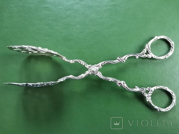 Щипці Швеція срібло 40 грам, фото №5