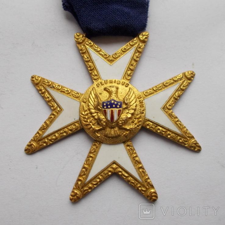 Крест американских масонов 1 ст. Эмаль., фото №3