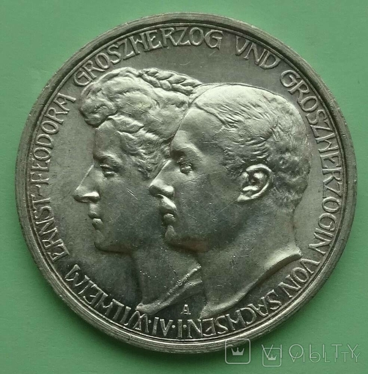 3 марки. Саксен-Веймер-Эйзенах. 1910 год, фото №2