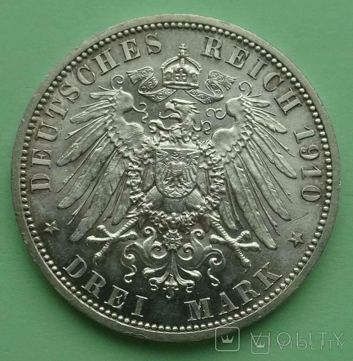 3 марки. Саксен-Веймер-Эйзенах. 1910 год, фото №5