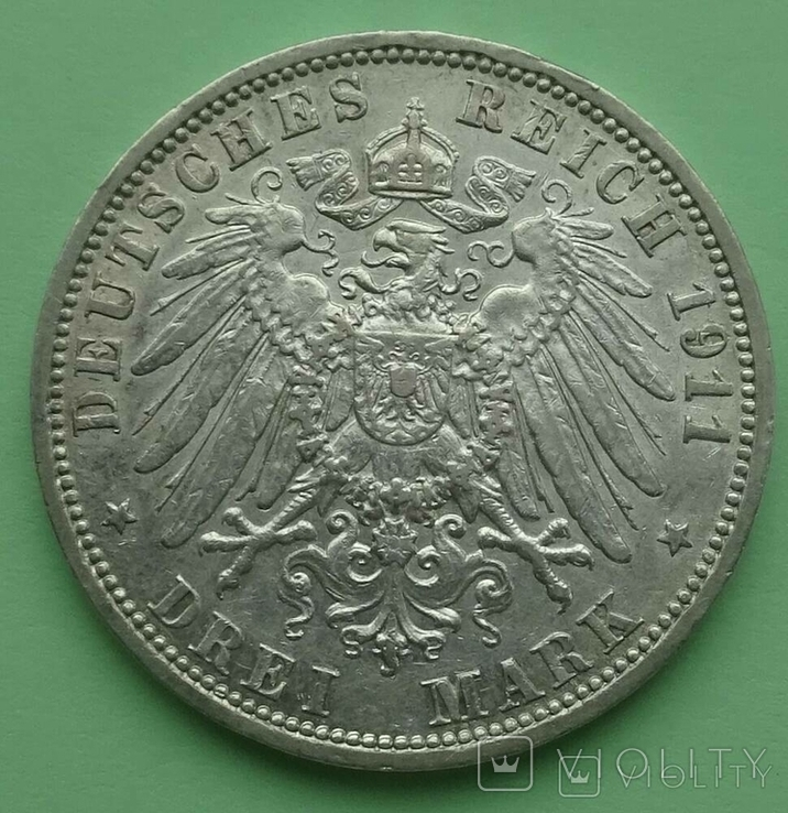 3 марки. Анхальт. 1911 год., фото №5
