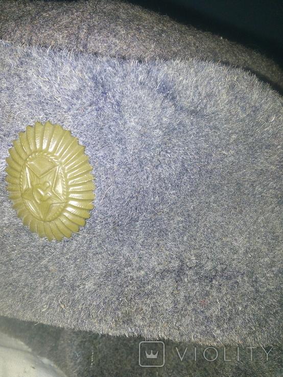 Солдадцкая шапка ушанка, фото №4