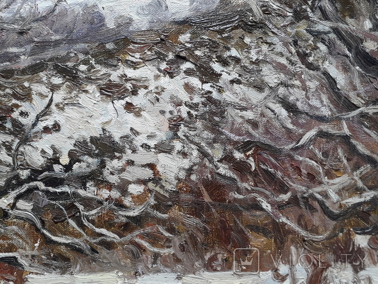 Нижние Гайдары. Этюд с натуры. Х.м, фото №4