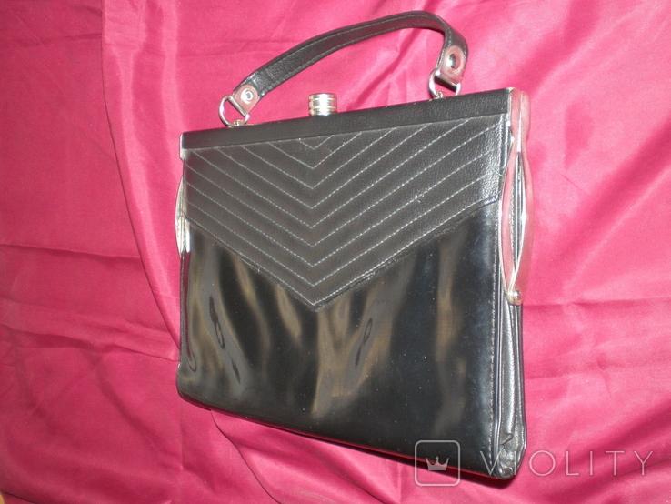 """Чорна жіноча сумочка """"на вихід"""", фото №3"""