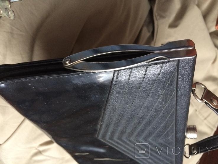 """Чорна жіноча сумочка """"на вихід"""", фото №4"""