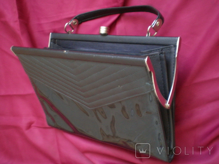 """Чорна жіноча сумочка """"на вихід"""", фото №5"""