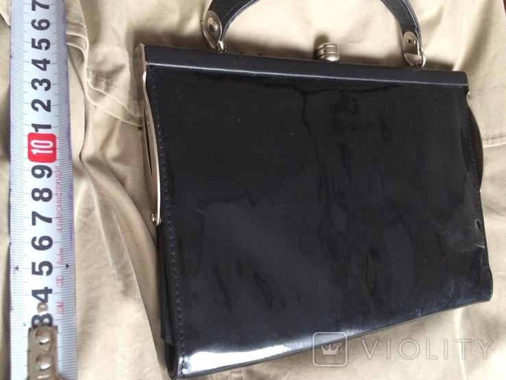 """Чорна жіноча сумочка """"на вихід"""", фото №6"""