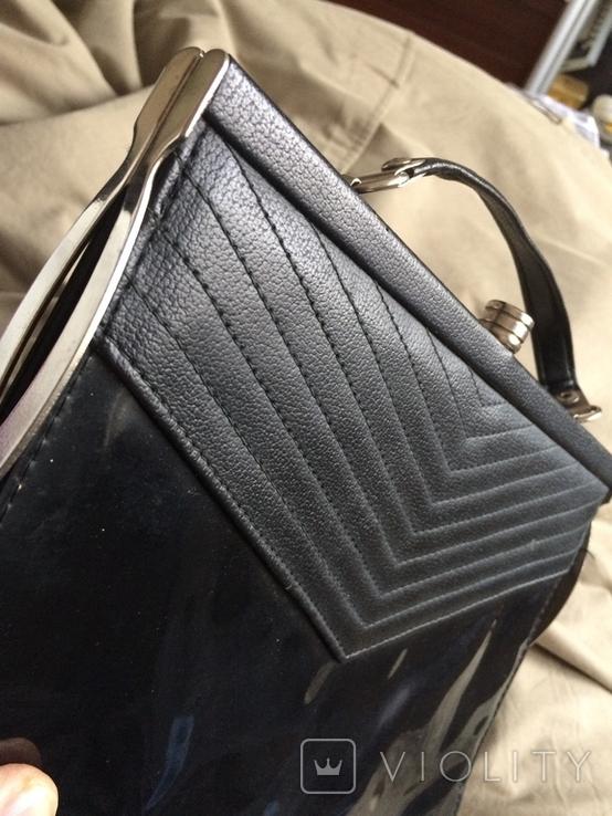 """Чорна жіноча сумочка """"на вихід"""", фото №8"""