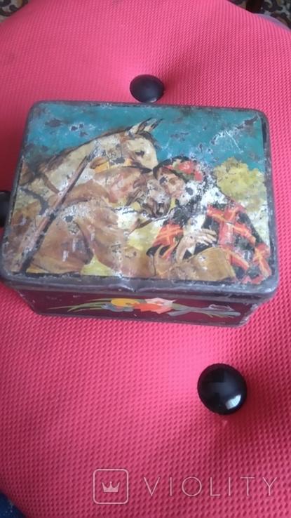 Жестяная коробка из под кофе 50-60 года Польша., фото №2