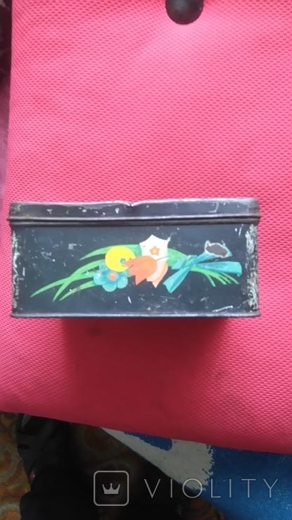 Жестяная коробка из под кофе 50-60 года Польша., фото №7
