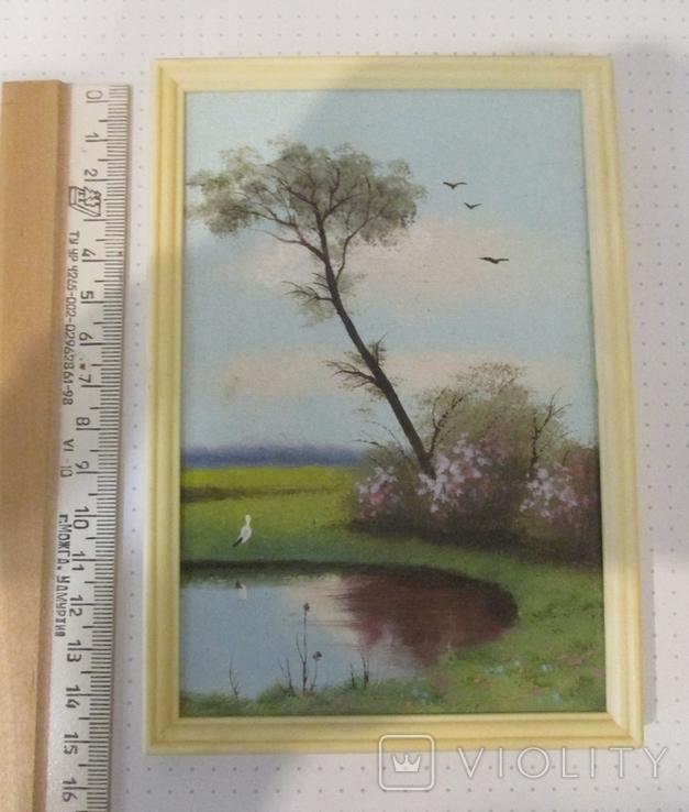 Дерево у пруда 14 х 9 см., фото №2