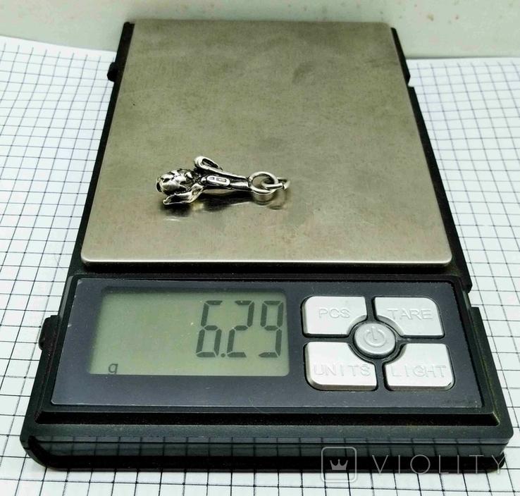 """Подвеска серебро 800 пр, 6 грамм. """"Ветка хмеля"""", фото №6"""
