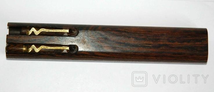 Набор ш.ручка и цанг.карандаш в деревянном футляре, фото №2