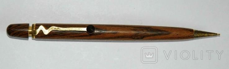 Набор ш.ручка и цанг.карандаш в деревянном футляре, фото №5