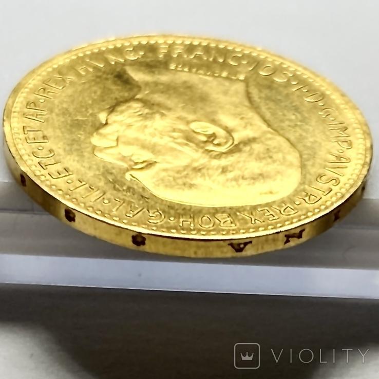 20 крон (рестрайк) 1915. Австро-Венгрия (золото 900, вес 6,78 г), фото №10