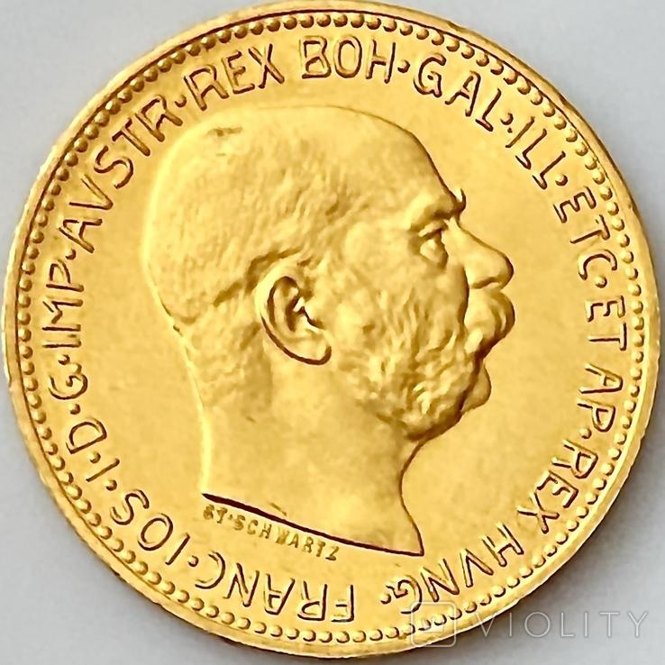 20 крон (рестрайк) 1915. Австро-Венгрия (золото 900, вес 6,78 г), фото №12