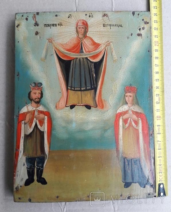 Икона . Покрова . Святая Богородица., фото №3