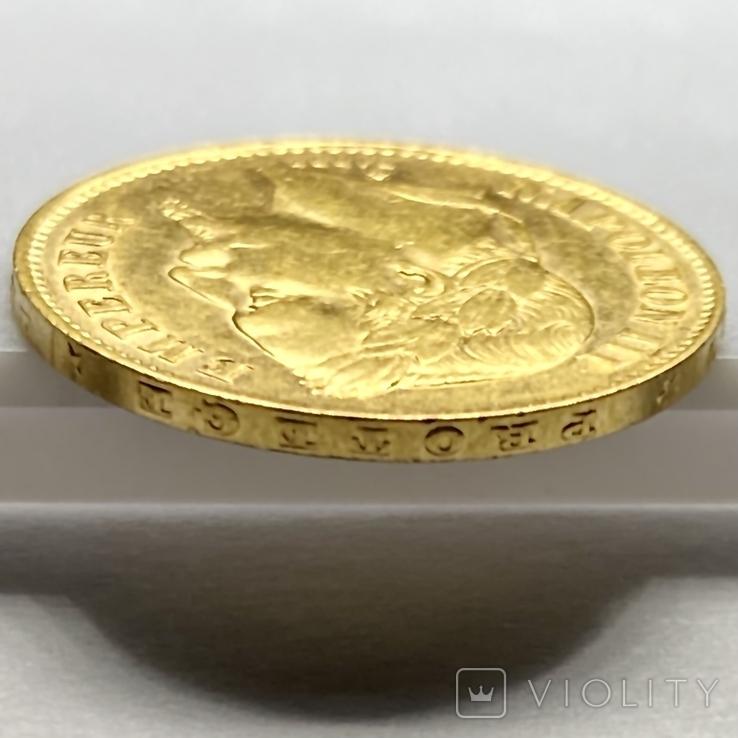20 франков. 1868. Наполеон III. Франция (золото 900, вес 6,46 г), фото №9