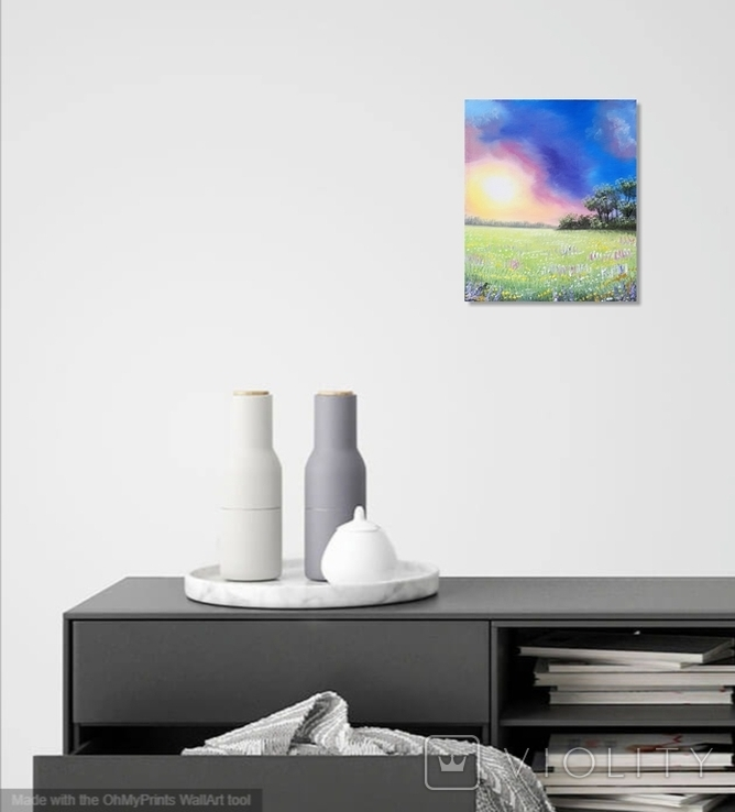 Картина, Фарби літнього вечора, 25х30 см. Живопис на полотні, фото №5