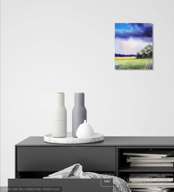 Картина, Щедрий дощик, 25х30 см. Живопис на полотні, фото №5