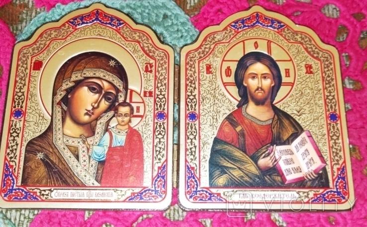 Божья матерь и Иисус складная икона, фото №2