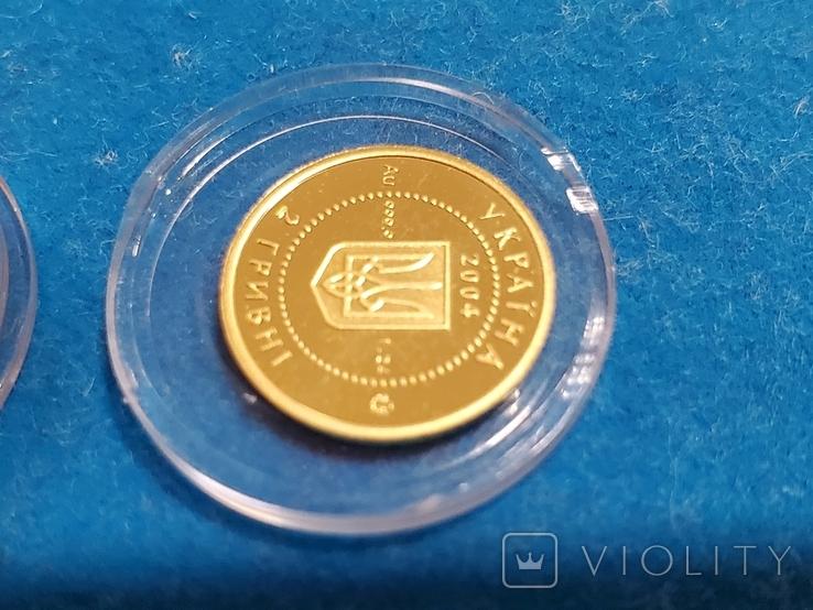 """2 гривні """"Лелека""""золото 999.9/2 гривни """"Аист"""" 2004 год.,сертификат N2927., фото №12"""