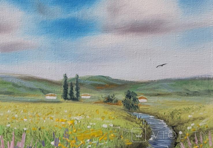 Картина, Знайома далечінь, 15х20 см. Живопис на полотні, фото №4