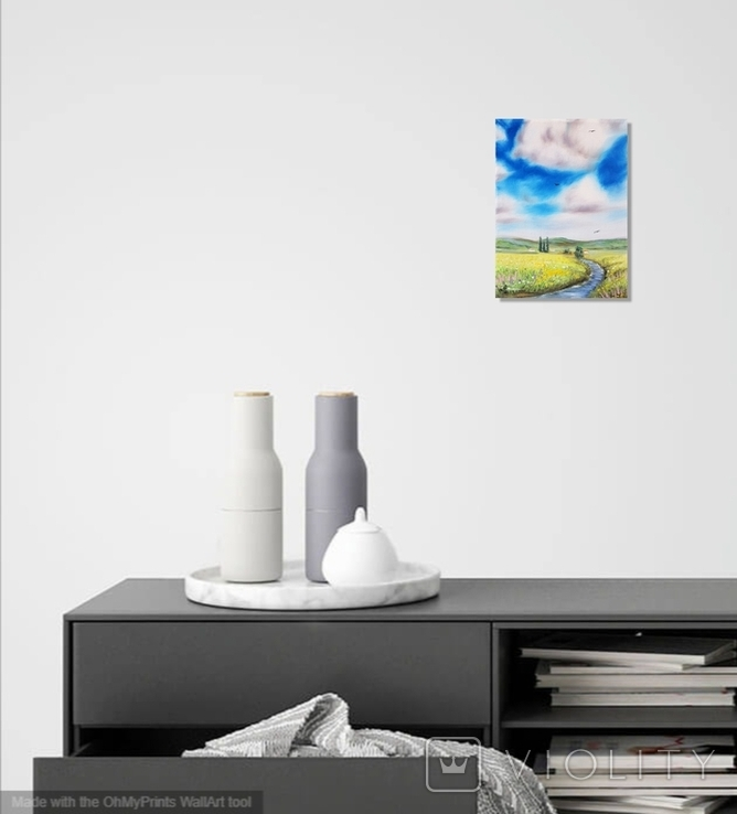 Картина, Знайома далечінь, 15х20 см. Живопис на полотні, фото №6