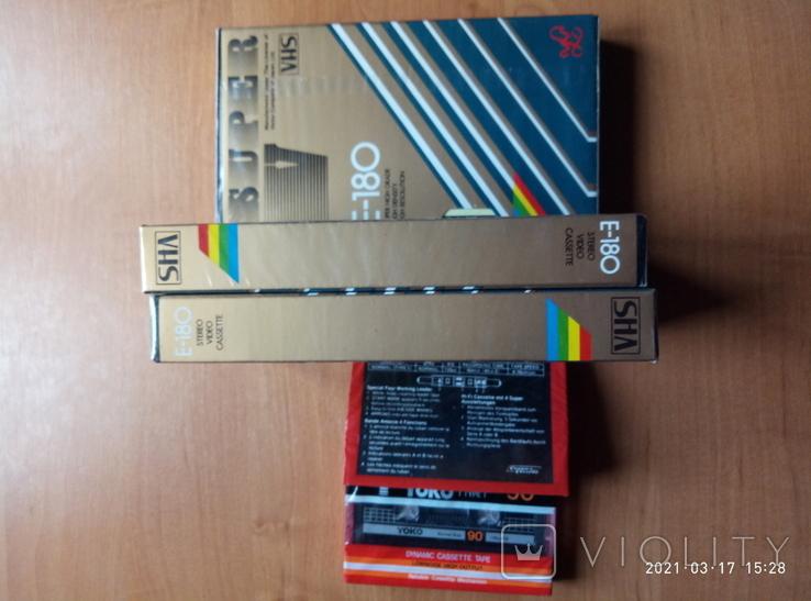 3 видео и 2 аудио кассеты- новые, фото №3