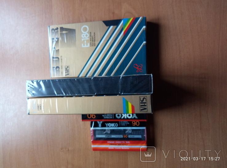 3 видео и 2 аудио кассеты- новые, фото №5