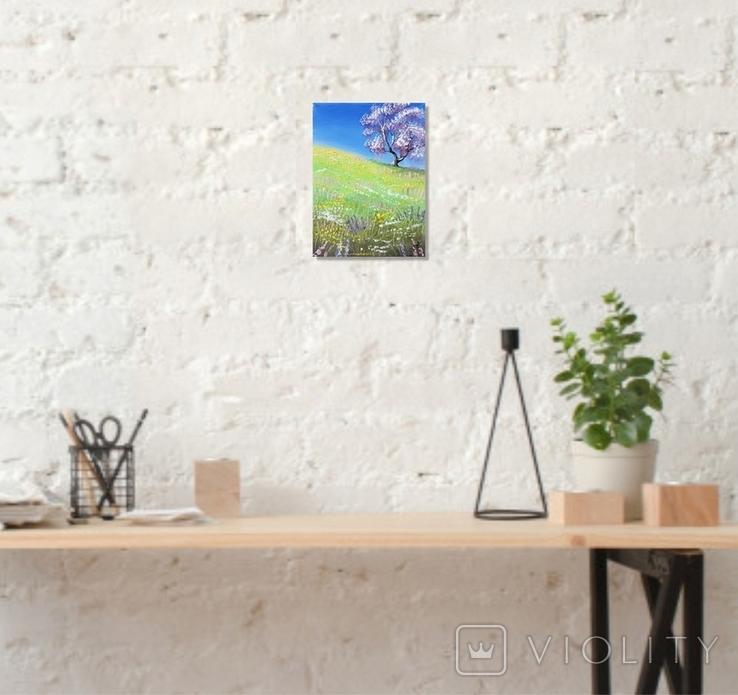 Картина, Весна, 15х20 см. Живопис на полотні, фото №5