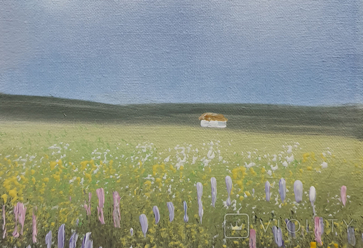 Картина, М'які відтінки літа, 15х20 см. Живопис на полотні, фото №4