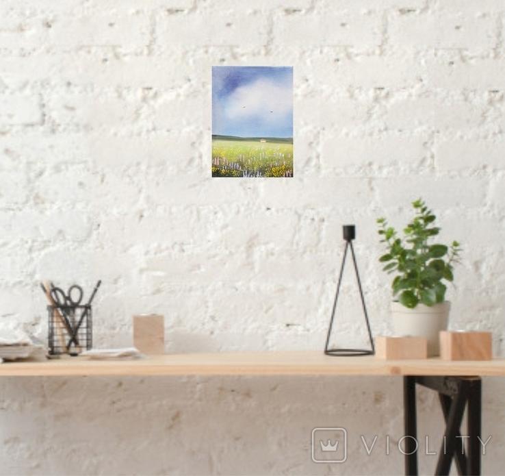 Картина, М'які відтінки літа, 15х20 см. Живопис на полотні, фото №6