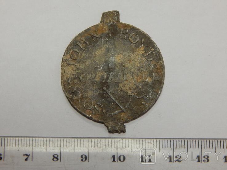Свинцовый жетон Европы, фото №2