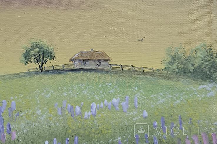 Картина, Вечоріє, 15х20 см. Живопис на полотні, фото №4
